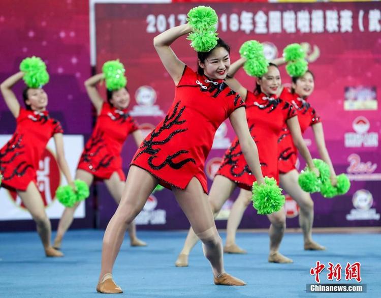 2017-2018년 중국 치어리더 대회 우한서 힘차게 개막