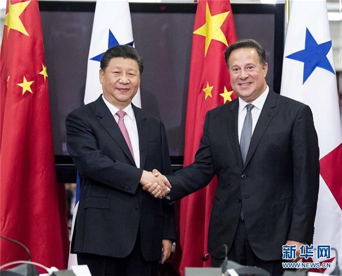 시진핑 주석, 후안 카를로스 바렐라 파나마 대통령과 회담