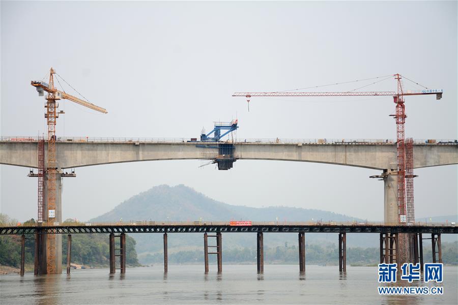 중국-라오스 철로 건설 박차, 메콩강대교 연결