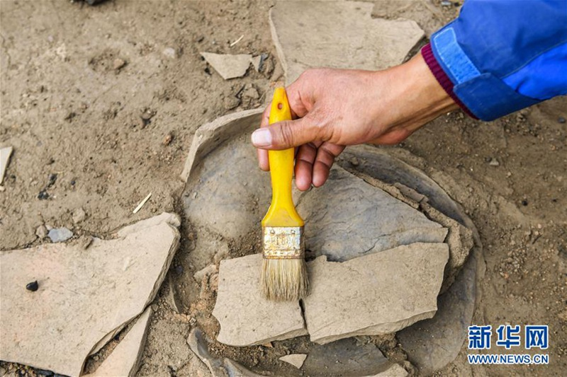유적지 현장 발굴 작업이 한창이다. [사진 출처: 신화망]
